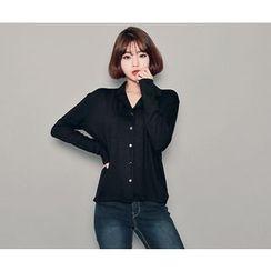 HOTPING - Plain Jersey Shirt