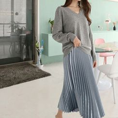 Hello sweety - Accordion-Pleated A-Line Skirt