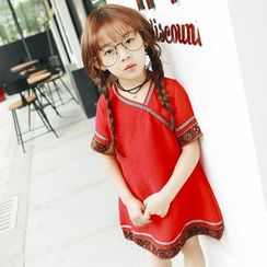 Lemony dudu - Kids Short-Sleeve Embroidered Dress