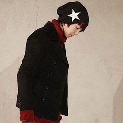 Free Shop - Star Pattern Knit Beanie