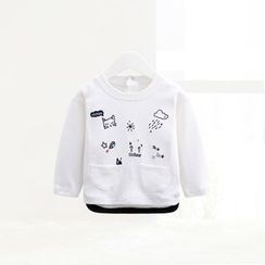 ciciibear - Kids Embroidered Long-Sleeve Top