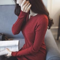 anzoveve - V-Neck Long Sweater