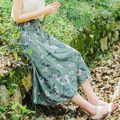 YARU - Floral Midi Skirt