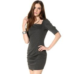 59 Seconds - Asymmetric Neckline Dress