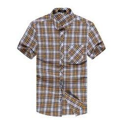 RUYA - Short-Sleeve Plaid Shirt