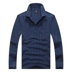 SENTA - Pattern Long Sleeve Polo Shirt