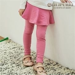 LILIPURRI - Girls Inset Flare Skirt Leggings