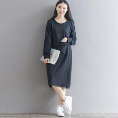 Cherry Dress - Long-Sleeve Midi Dress