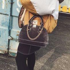 Rosanna Bags - Chain Strap Velvet Shoulder Bag