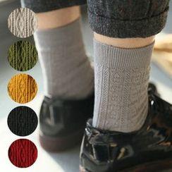MITU - 麻花針織襪