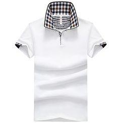 Bingham - 格紋邊短袖馬球衫