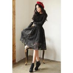 Luv it Dress - Lace A-Line Midi Skirt