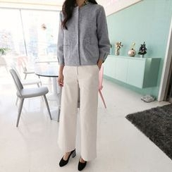 Hello sweety - Flat-Front Wide-Leg Pants
