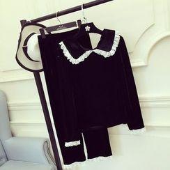 RUI - 家居服套裝: 長袖上衣 + 長褲