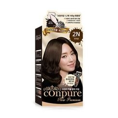 esfolio - Conpure Squid Ink Color Cream (#2N Brown): Hairdye 80g + Oxidizing Agent 80g + Hair Treatment 40g
