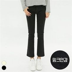 PINKSISLY - Brushed Fleece Lined Straight-Cut Pants