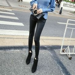 RUI - Faux Leather Skinny Pants