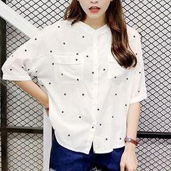 Cloud Nine - Elbow-Sleeve Star Shirt
