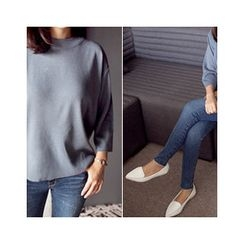 MASoeur - Round-Neck 3/4-Sleeve Knit Top