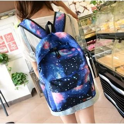 Crystal - Galaxy Print Canvas Backpack