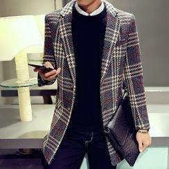 Prep Soul - Plaid Knit Coat
