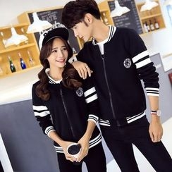 CASSY - Couple Matching Zip Jacket