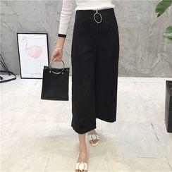 Octavia - Front Zip Wide Leg Pants