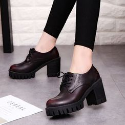 Wello - Chunky Heel Oxfords