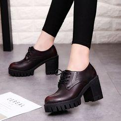 Wello - 粗跟牛津鞋