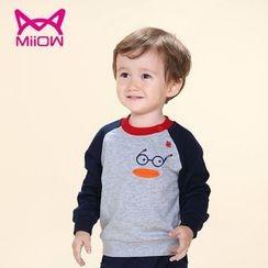 MiiOW - Kids Printed Raglan Sweatshirt
