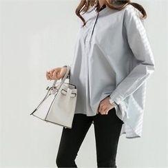 PEPER - Open-Placket Drop-Shoulder Shirt