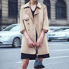 Romantica - 3/4-Sleeve Belted Trench Coat