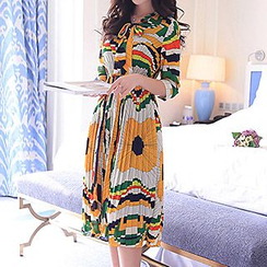 Romantica - Printed Chiffon Dress