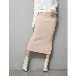 GUMZZI - Knit Midi Skirt