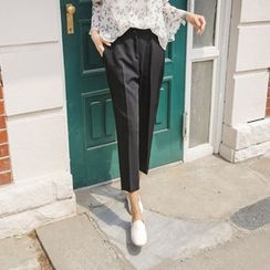 JUSTONE - Baggy-Fit Tapered Dress Pants