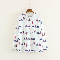 Mushi - Hooded Print Jacket