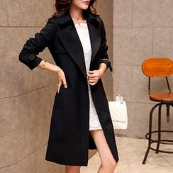 Romantica - Notched-Lapel Belted Trench Coat