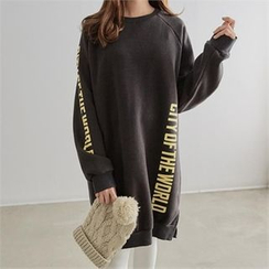 PEPER - Raglan-Sleeve Lettering Long T-Shirt