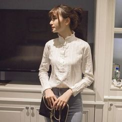 微米家 - 刺繡立領襯衫