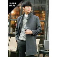 JOGUNSHOP - Mandarin-Collar Hidden-Button Coat