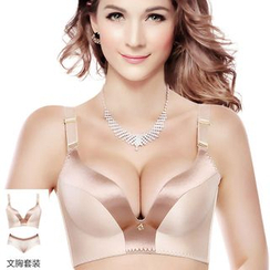 QUINN - Set: Two-Tone Wireless Bra + Panties