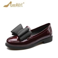 Amenx - Bow Patent Loafers