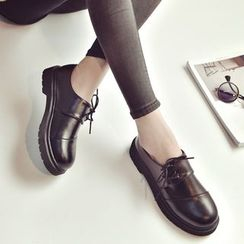 QQ Trend - 仿皮系带鞋