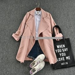 YOZI - Snap-Button Trench Coat