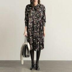 Jolly Club - Long-Sleeve Floral Dress