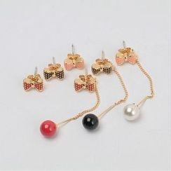 icecream12 - Beaded Drop Earrings