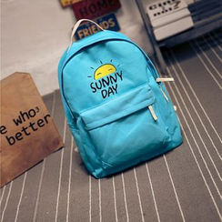 Crystal - Printed Canvas Backpack