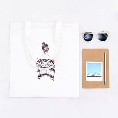 Eastin - Printed Canvas Shopper Bag