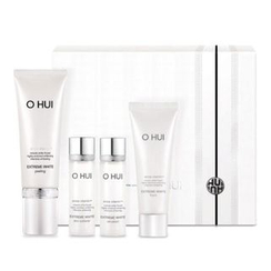 O HUI - Extreme White Peeling Set : Peeling 60ml + Toner 20ml + Emulsion 20ml + Foam 40ml