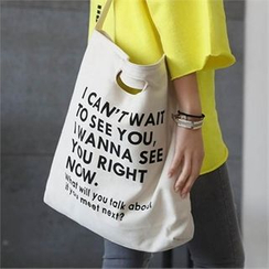 CHICFOX - Lettering Shopper Bag